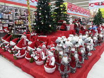 Santa and snowman dolls Stock Images