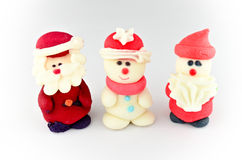 Santa and snowman icing decoration  Royalty Free Stock Photo