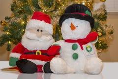 Santa & Snowman Stuffed Toys Stock Photography