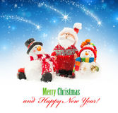 Santa and snowmen Royalty Free Stock Photo