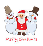 Santa & Snowmen Royalty Free Stock Images