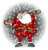 Santa In A Snowstorm Stock Image