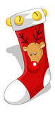 Santa Socks - Christmas Vector Illustration Royalty Free Stock Photos