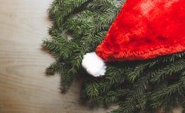 Santa& x27; sombrero de s Imagen de archivo libre de regalías