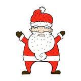 Santa soumise à une contrainte par bande dessinée comique Images stock