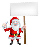 Santa Spanner Sign Royalty Free Stock Photography