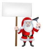Santa Sqeegee Sign Lizenzfreie Stockbilder