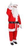 Santa sta indicando la sua barretta Fotografie Stock
