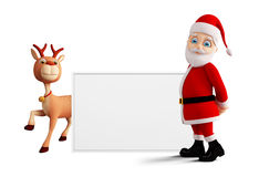 Santa sta presentando il Buon Natale Immagini Stock Libere da Diritti