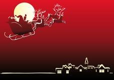 Santa sta venendo alla città Fotografia Stock Libera da Diritti