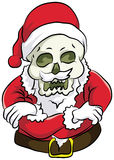 Santa stand cool. Skull dresses santa with cool pose and smiling in her face Stock Images
