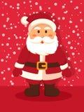 Santa Standing i rött Royaltyfria Bilder
