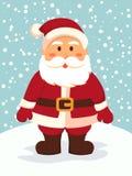 Santa Standing i snöig dag Royaltyfria Foton