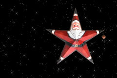Santa Star Ornament  Stock Photo