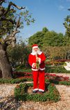 Santa statue in the park. Royalty Free Stock Images