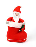 Santa stay in red boot Royalty Free Stock Image