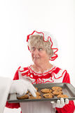 Santa steals a cookie Stock Photo