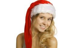 Santa stående Fotografering för Bildbyråer