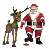 Santa Stepped in it this Time Stock Images