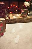 Santa steps. Santa step at christmas season Royalty Free Stock Photography