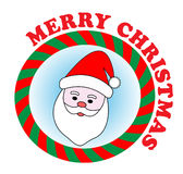 Santa sticker Stock Images