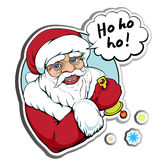 Santa sticker Royalty Free Stock Images