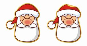 Santa sticker (vector) royalty free illustration