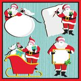 Santa Stickers and Tags Royalty Free Stock Images