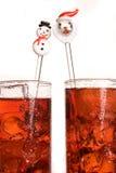 Santa sticks Royalty Free Stock Image