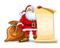 Santa_stoit_svitok(22).jpg Royalty Free Stock Image