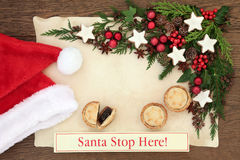 Santa Stop Here Royalty Free Stock Image