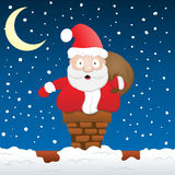 Santa Stuck Royalty Free Stock Photos