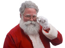Santa su bianco immagine stock libera da diritti