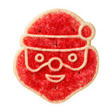 Santa Sugar Cookie Stock Photo