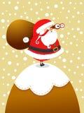 Santa sulla montagna royalty illustrazione gratis