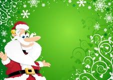 Santa sulla priorità bassa di natale Immagine Stock