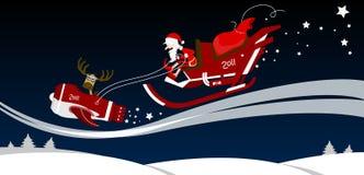Santa sulla slitta Immagine Stock Libera da Diritti