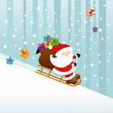 Santa sulla slitta royalty illustrazione gratis