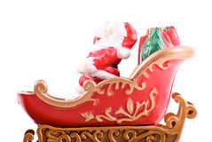 Santa sulla sua slitta Immagine Stock
