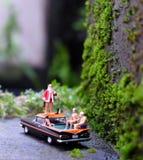 Santa sulle feste di Natale Fotografia Stock Libera da Diritti
