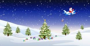 Santa sur l'avion Image libre de droits