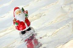 Santa sur la glace Image libre de droits