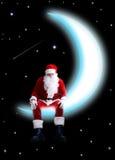 Santa sur la lune Photographie stock