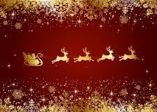 Santa sur le fond de Noël Photo stock