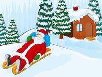 Santa sur un étrier Photo libre de droits