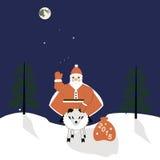 Santa sur un mouton Photo stock