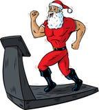 Santa sur un tapis roulant Image stock