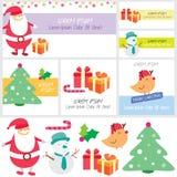 Santa surprise clip art and layout design Stock Photos