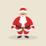 Santa sveglia Carattere per il Natale ed il nuovo anno Progettazione piana moderna Illustrazione di vettore Fotografie Stock