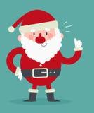 Santa sveglia con i pollici su Fotografia Stock